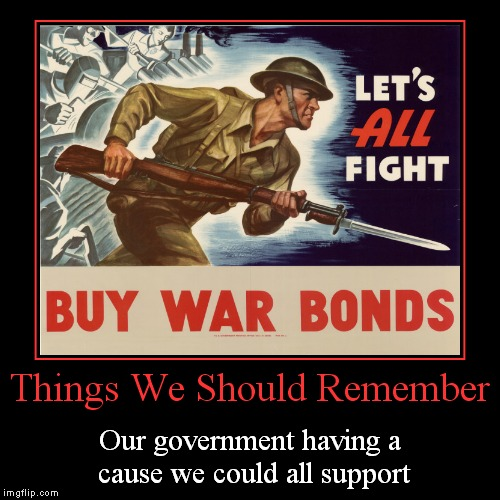 Things We Should Remember | Our government having a cause we could all support | image tagged in funny,demotivationals | made w/ Imgflip demotivational maker