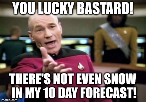 Picard Wtf Meme | YOU LUCKY BASTARD! THERE'S NOT EVEN SNOW IN MY 10 DAY FORECAST! | image tagged in memes,picard wtf | made w/ Imgflip meme maker