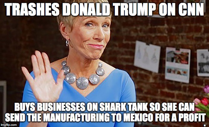 Barbara Corcoran talking trash on Donald Trump |  . | image tagged in donald trump,donald trump 2016,president,president 2016,shark tank | made w/ Imgflip meme maker