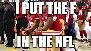 I PUT THE F IN THE NFL | image tagged in san francisco 49ers | made w/ Imgflip meme maker