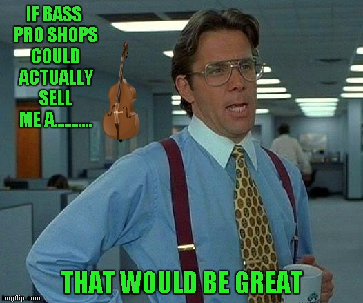 That Would Be Great Meme | IF BASS PRO SHOPS COULD ACTUALLY SELL ME A........... THAT WOULD BE GREAT | image tagged in memes,that would be great | made w/ Imgflip meme maker