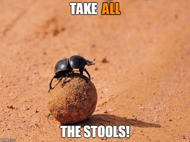 TAKE  ALL THE STOOLS! ALL | made w/ Imgflip meme maker