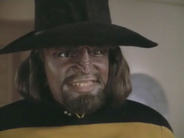 High Quality Worf In Cowboy Hat Blank Meme Template