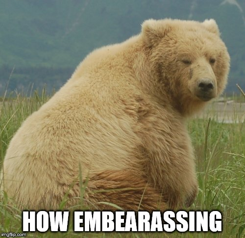HOW EMBEARASSING | made w/ Imgflip meme maker