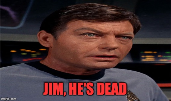 JIM, HE'S DEAD | made w/ Imgflip meme maker