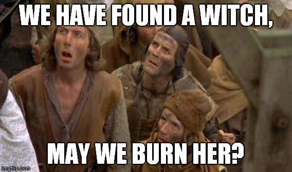 WE HAVE FOUND A WITCH, MAY WE BURN HER? | made w/ Imgflip meme maker