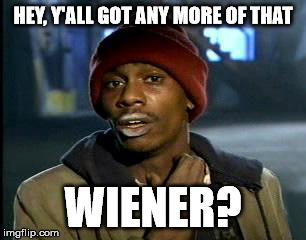 Y'all Got Any More Of That Meme | HEY, Y'ALL GOT ANY MORE OF THAT WIENER? | image tagged in memes,yall got any more of | made w/ Imgflip meme maker