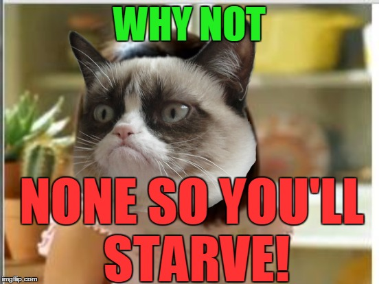 WHY NOT NONE SO YOU'LL STARVE! | made w/ Imgflip meme maker
