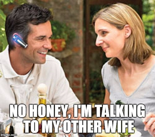 NO HONEY, I'M TALKING TO MY OTHER WIFE | made w/ Imgflip meme maker