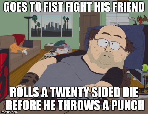One sided fist fight