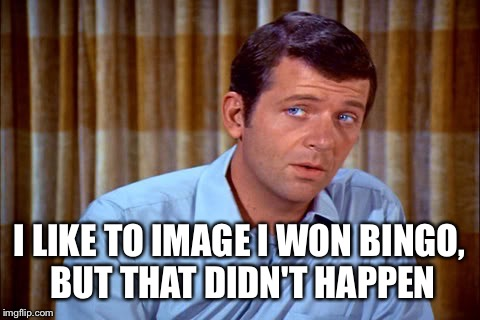 I LIKE TO IMAGE I WON BINGO, BUT THAT DIDN'T HAPPEN | made w/ Imgflip meme maker