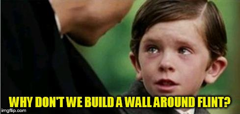 WHY DON'T WE BUILD A WALL AROUND FLINT? | made w/ Imgflip meme maker