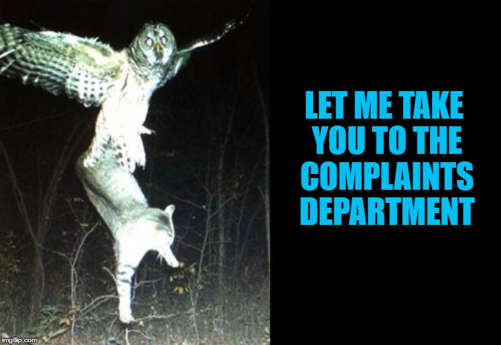 LET ME TAKE YOU TO THE COMPLAINTS DEPARTMENT | made w/ Imgflip meme maker