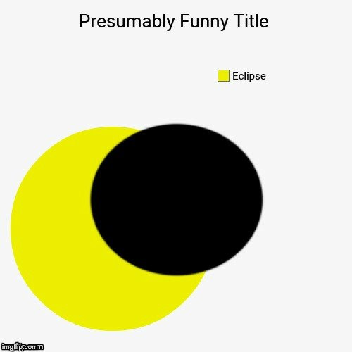Eclipse. An OlympianProduct and Ricky_out_loud inspired pie chart | . .. | image tagged in funny,pie charts,sun,eclipse,moon,dark side | made w/ Imgflip meme maker