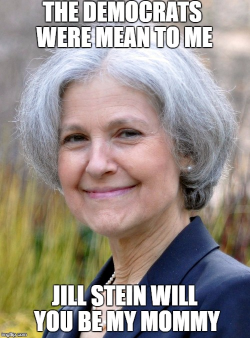 Jill Stein | THE DEMOCRATS WERE MEAN TO ME JILL STEIN WILL YOU BE MY MOMMY | image tagged in jill stein | made w/ Imgflip meme maker