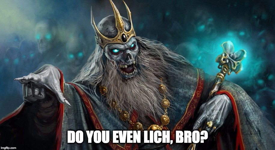 Do You Even Lich? | DO YOU EVEN LICH, BRO? | image tagged in dungeons and dragons,fantasy,do you even lift | made w/ Imgflip meme maker