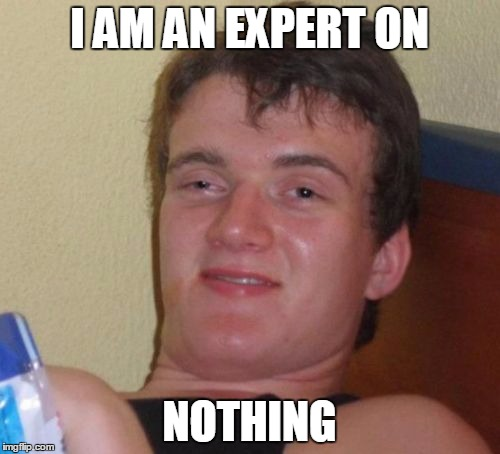 10 Guy Meme | I AM AN EXPERT ON NOTHING | image tagged in memes,10 guy | made w/ Imgflip meme maker