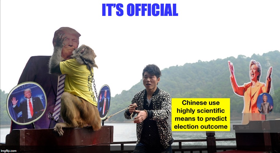Trump Wins | IT'S OFFICIAL | image tagged in trump 2016,election 2016,chinese,superstition | made w/ Imgflip meme maker