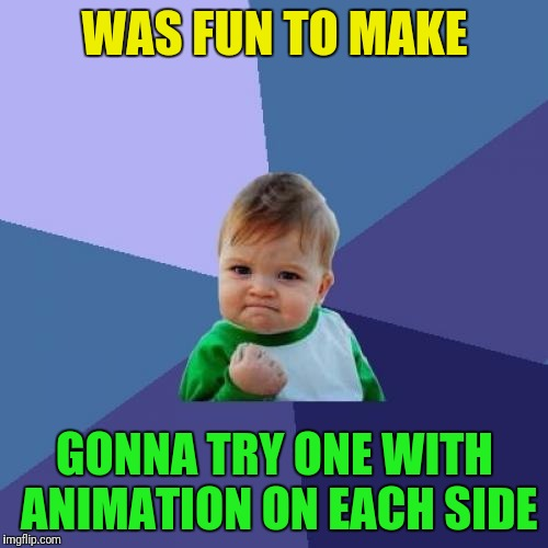 Success Kid Meme | WAS FUN TO MAKE GONNA TRY ONE WITH ANIMATION ON EACH SIDE | image tagged in memes,success kid | made w/ Imgflip meme maker