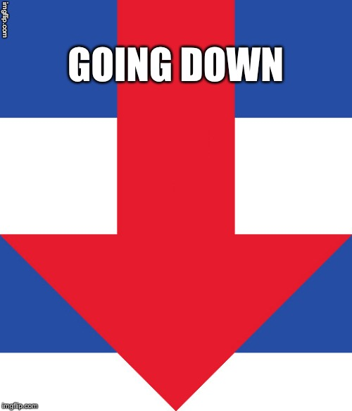 Hillary Campaign Logo | GOING DOWN | image tagged in hillary campaign logo | made w/ Imgflip meme maker