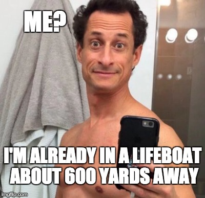 ME? I'M ALREADY IN A LIFEBOAT ABOUT 600 YARDS AWAY | made w/ Imgflip meme maker