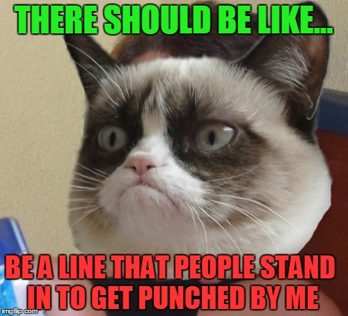 THERE SHOULD BE LIKE... BE A LINE THAT PEOPLE STAND IN TO GET PUNCHED BY ME | made w/ Imgflip meme maker
