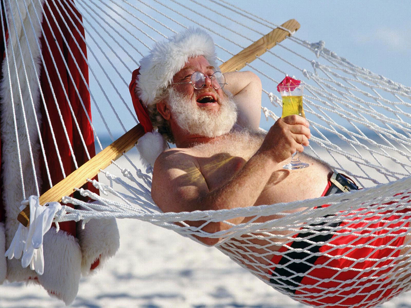 Image result for santa on vacation
