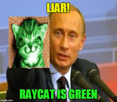 LIAR! RAYCAT IS GREEN | made w/ Imgflip meme maker