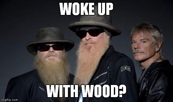 WOKE UP WITH WOOD? | made w/ Imgflip meme maker