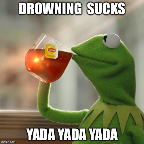 But Thats None Of My Business Meme | DROWNING  SUCKS YADA YADA YADA | image tagged in memes,but thats none of my business,kermit the frog | made w/ Imgflip meme maker