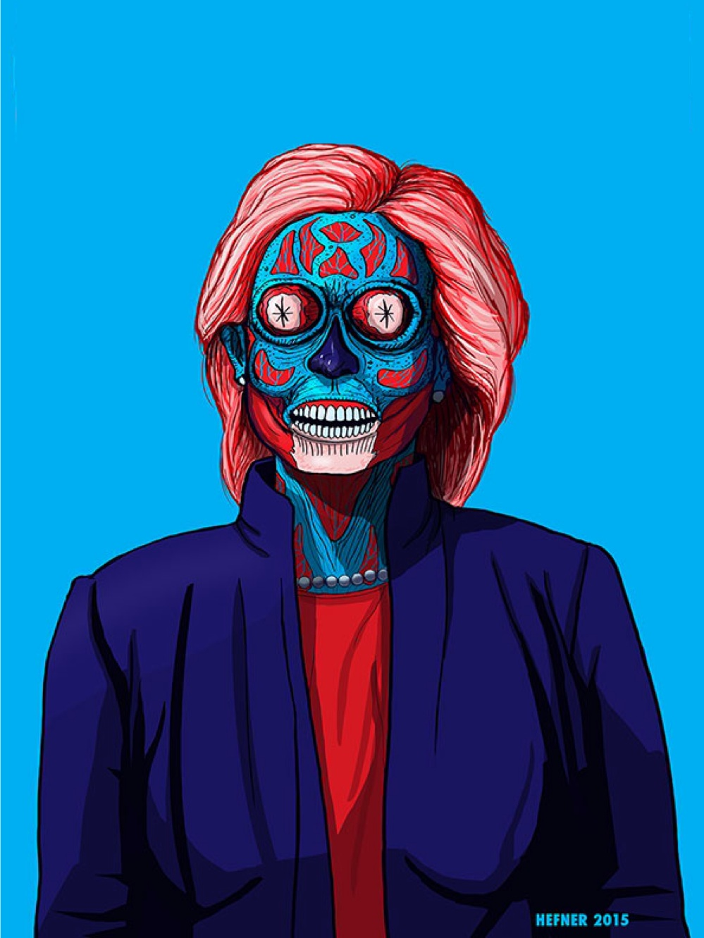 Hillary they live meme template