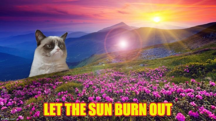 LET THE SUN BURN OUT | made w/ Imgflip meme maker