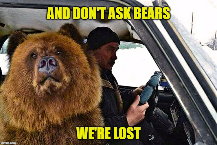 AND DON'T ASK BEARS WE'RE LOST | made w/ Imgflip meme maker
