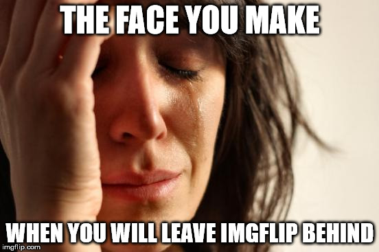 This is goodbye, I guess.... | THE FACE YOU MAKE WHEN YOU WILL LEAVE IMGFLIP BEHIND | image tagged in memes,first world problems,leave,not coming back,goodbye,sad | made w/ Imgflip meme maker
