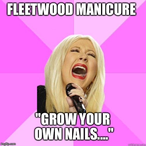 "Extended gel remix | FLEETWOOD MANICURE ""GROW YOUR OWN NAILS...."" 