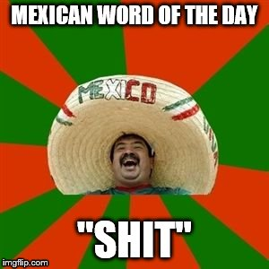 "succesful mexican | MEXICAN WORD OF THE DAY ""SHIT"" 