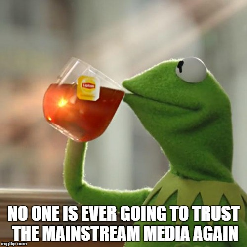 But Thats None Of My Business Meme | NO ONE IS EVER GOING TO TRUST THE MAINSTREAM MEDIA AGAIN | image tagged in memes,but thats none of my business,kermit the frog | made w/ Imgflip meme maker