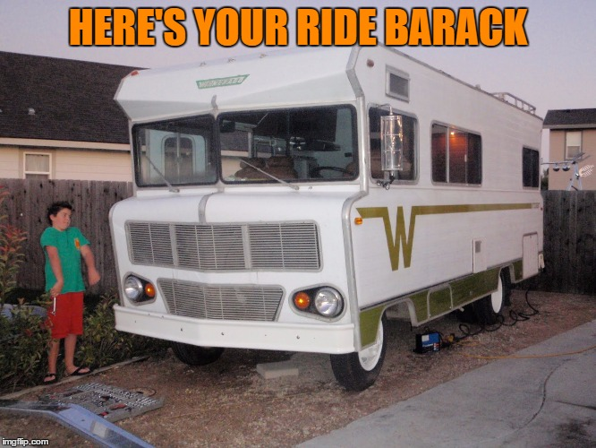 HERE'S YOUR RIDE BARACK | made w/ Imgflip meme maker