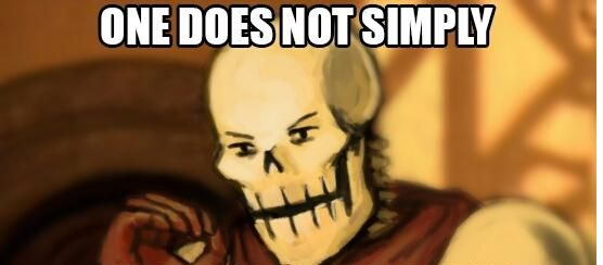 Papyrus One Does Not Simply Template