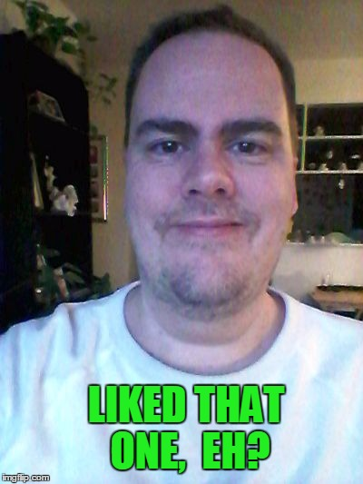 smile | LIKED THAT ONE,  EH? | image tagged in smile | made w/ Imgflip meme maker