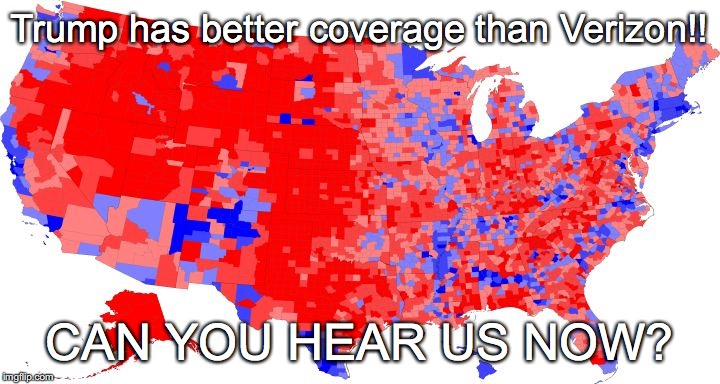us electoral map counties trump has better coverage than verizon can you
