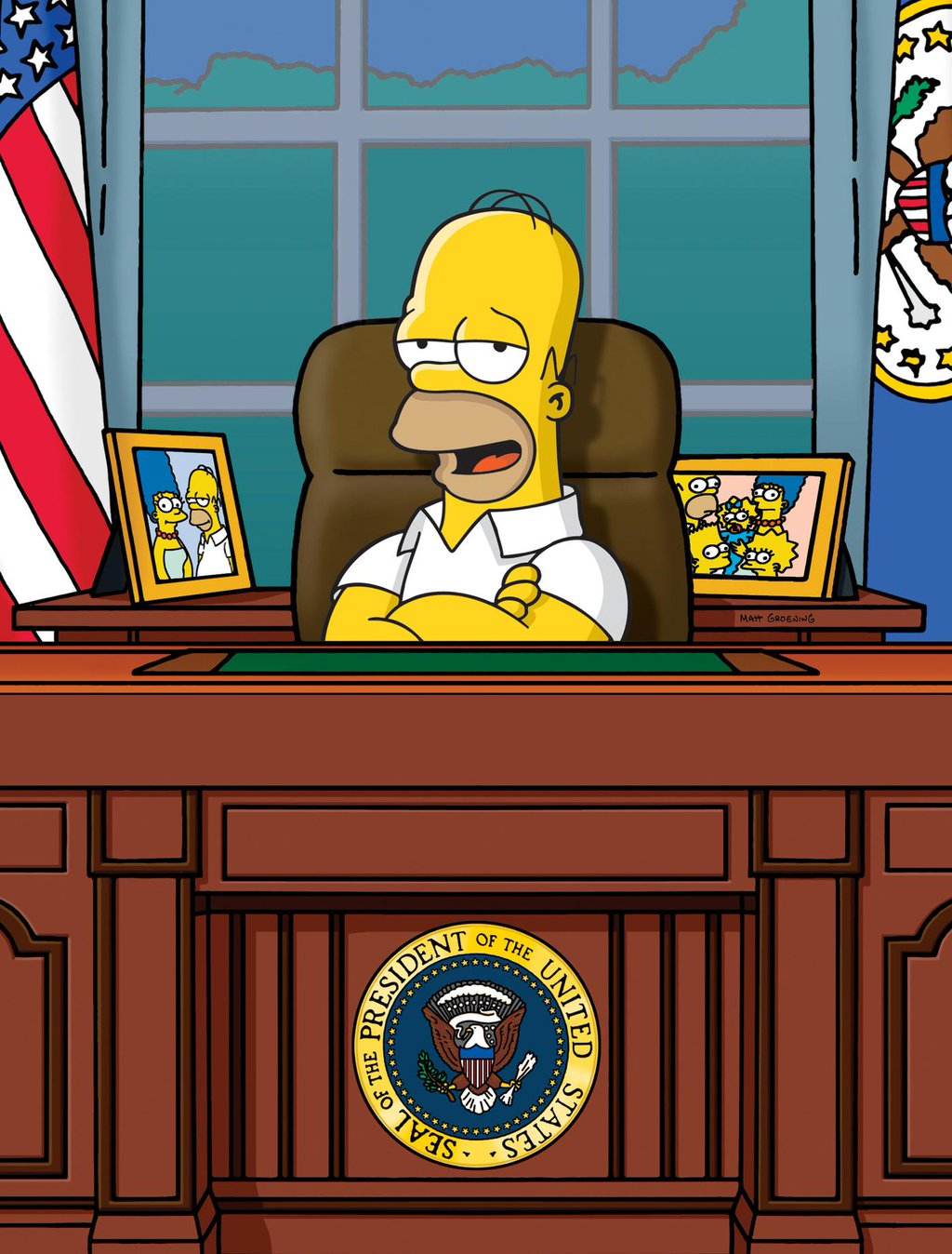 us president office. High Quality Homer Simpson White House Oval Office US President Blank Meme Template Us