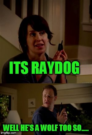 ITS RAYDOG WELL HE'S A WOLF TOO SO..... | made w/ Imgflip meme maker
