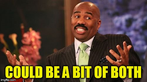 Steve Harvey Meme | COULD BE A BIT OF BOTH | image tagged in memes,steve harvey | made w/ Imgflip meme maker