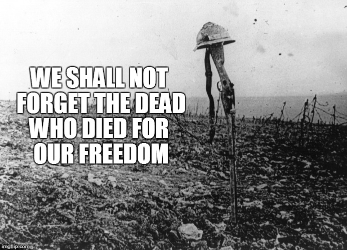 We shall not forget | WE SHALL NOT FORGET THE DEAD WHO DIED FOR OUR FREEDOM | image tagged in armistice day,ww1,grave,world war 1 | made w/ Imgflip meme maker