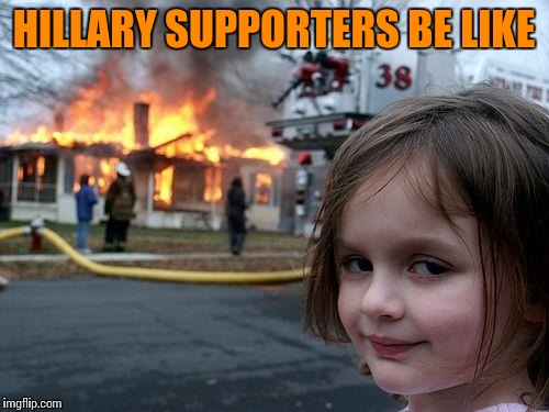 "Protesting Trump's ""hate"" with hateful actions 