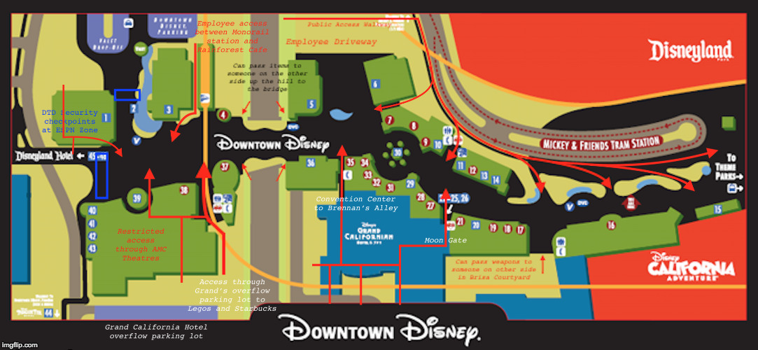 MickeyLeaks Disneyland To Move Security Checkpoints To Include - Disneyland brazil map