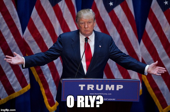 Trump Bruh | O RLY? | image tagged in trump bruh | made w/ Imgflip meme maker
