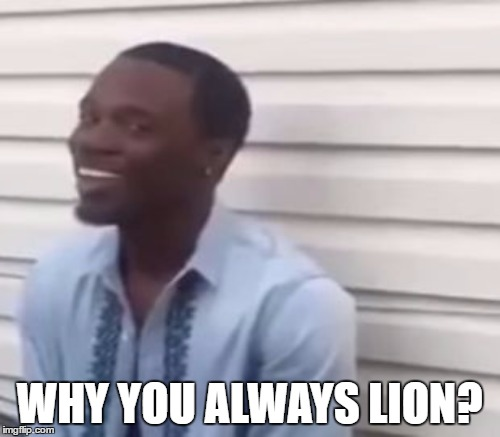 WHY YOU ALWAYS LION? | made w/ Imgflip meme maker