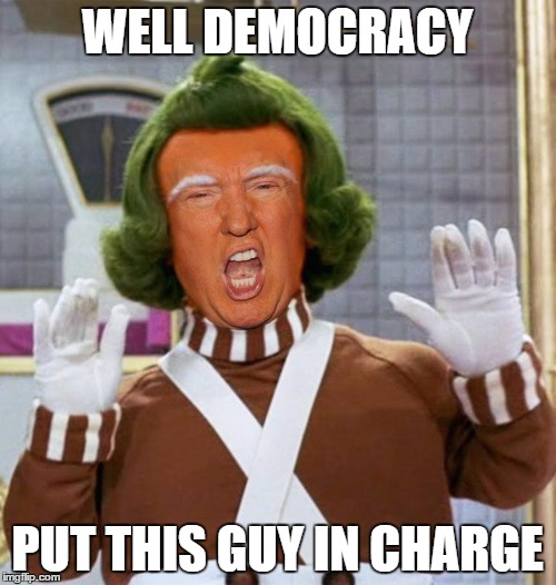 WELL DEMOCRACY PUT THIS GUY IN CHARGE | made w/ Imgflip meme maker